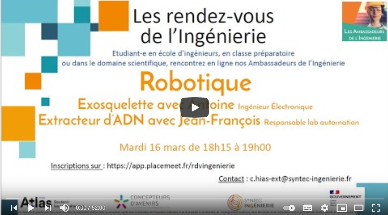 Robotique : l'exosquelette et l'extracteur d'ADN